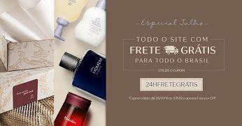 24h de Frete Grátis na Rede Natura_apenas em 26/07 https://t.co/QRWzCK8Nxj Aproveite: 24 horas de frete grátis para comprar online os seus produtos favoritos!