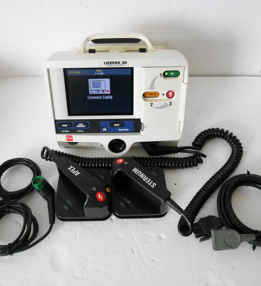 Lifepak 20 Defib Heartstart AED,Manual ECG Leads Therapy Cable and