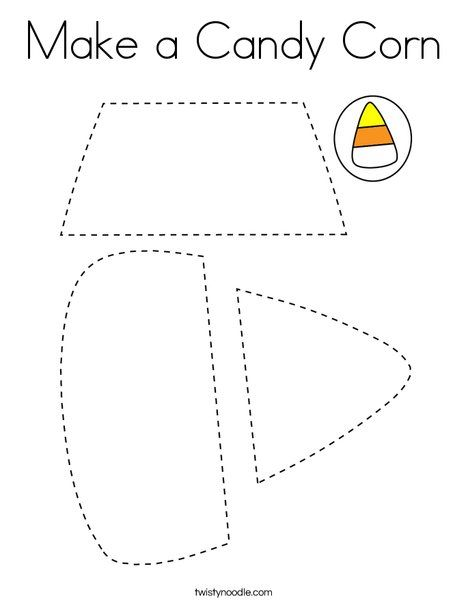 Make a Candy Corn Coloring Page - Twisty Noodle (With ...