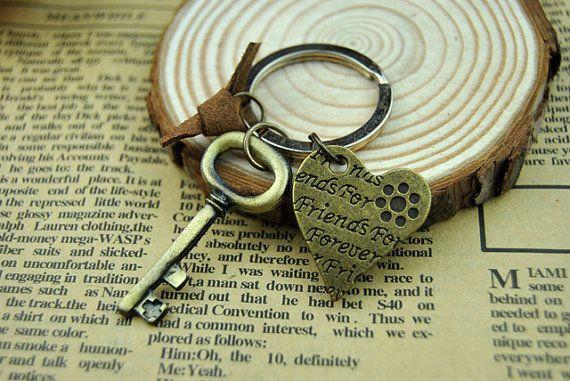 Golden Key Chain Bronze Love Key Chain by BeautifulShow on Etsy, $4.99