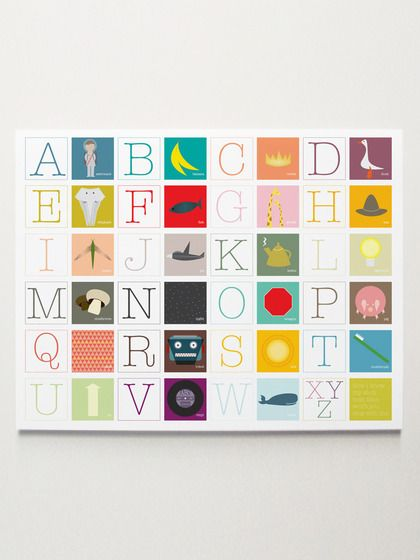 Now I Know My ABC's Print by ModernPOP Design on Gilt.com
