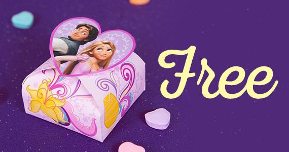 Tangled Valentine�s Day Candy Box