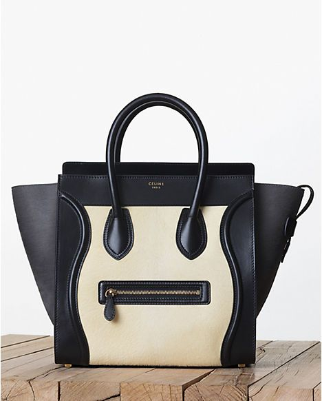 Celine Yellow Pony Calfskin Mini Luggage Bag Fall 2017