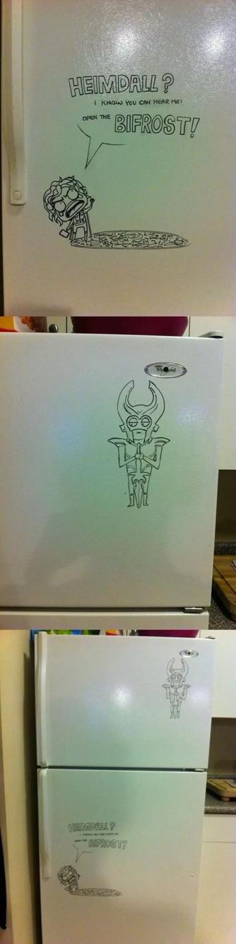 Thor fridge art