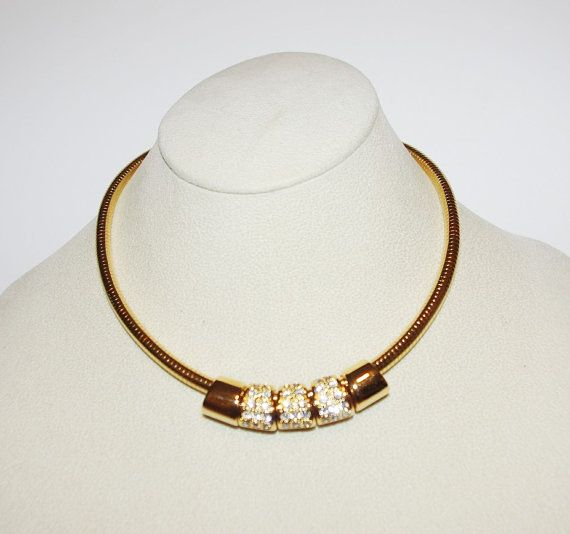 Reserved for belinda joan rivers omega necklace with 5 reversible this is a beautiful gold tone omega necklace with reversible slide pendant beads on one side the pendant beads are enamel and on the reverse side aloadofball Images