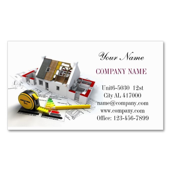 Roof Repair Construction Home Renovation Business Card Zazzle Com Construction Business Cards Construction Business Roof Repair
