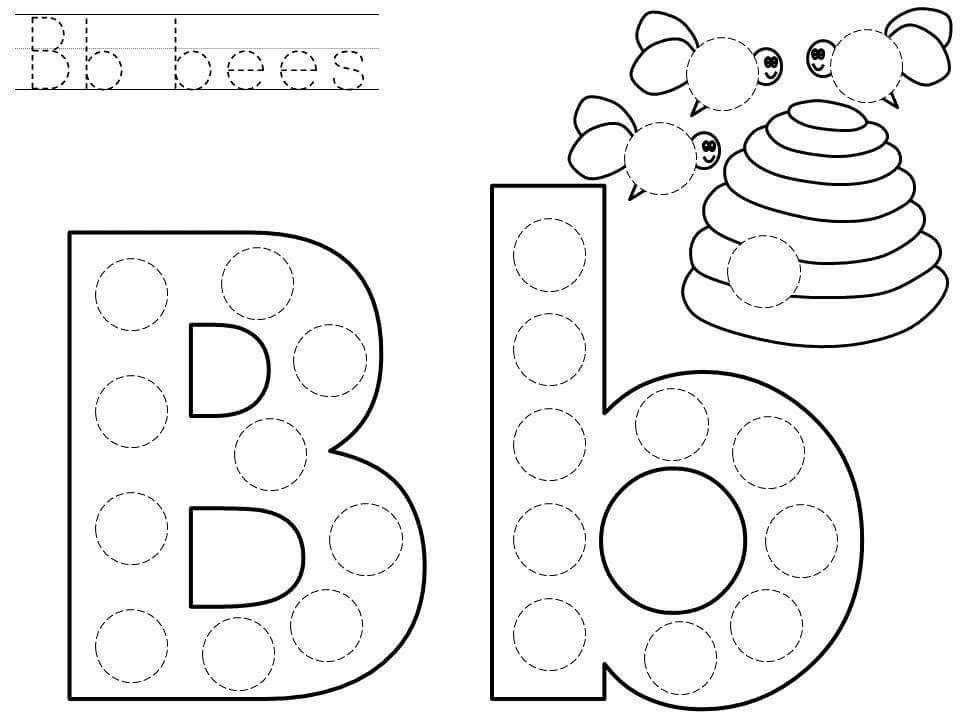 Do-a-dot-letter-b-printable « Funnycrafts