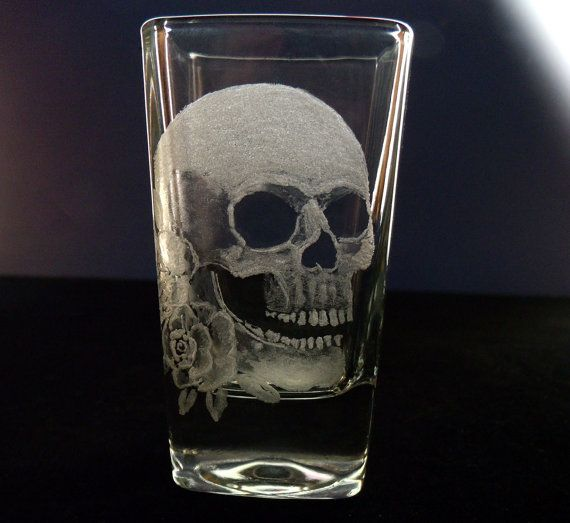 Engraved Personalized Skull Shot Glass