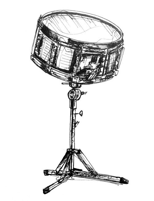 Daily Drawing Week 13 Drums 1 Snare Drum Drums Art Drum Tattoo