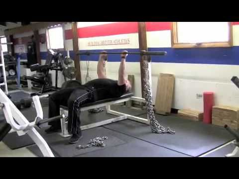 How To Set Up Chain Or Power Bands For Bench Press Bench Press Bench Squats