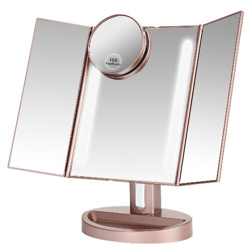 Tri Fold Vanity Mirror With Lights Stunning Christmas Gifts For College Girls  Lights Makeup Rooms And Room Design Ideas