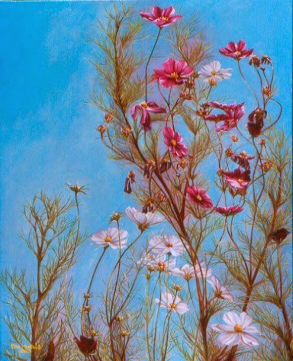 Woman in the Flowers Optical Illusion - http://www.moillusions.com/woman-flowers-optical-illusion/