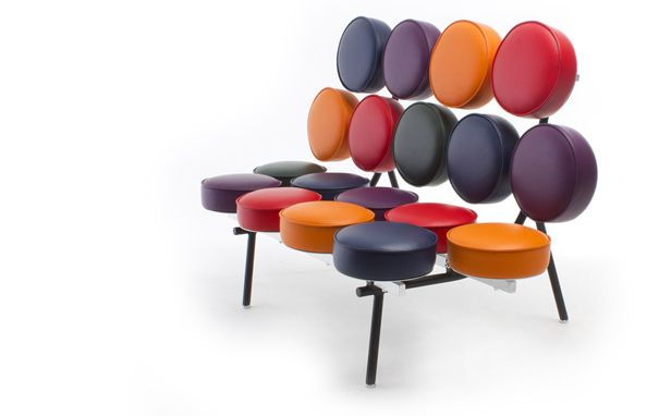 Marvelous The Playful Marshmallow Sofa Was Designed In 1956 By George Nelson And  Irving Harper For The Famed Herman Miller Furniture Company.the Unusual  Design ...