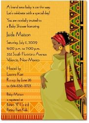 2636 Baby Shower Invitation African Theme Card Decorations