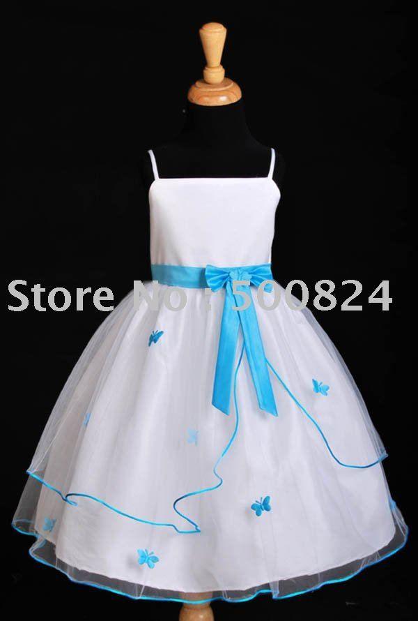 c9f08c7acbd96 Popular Pool Blue Flower Girl Dresses   Aliexpress   flower girl ...