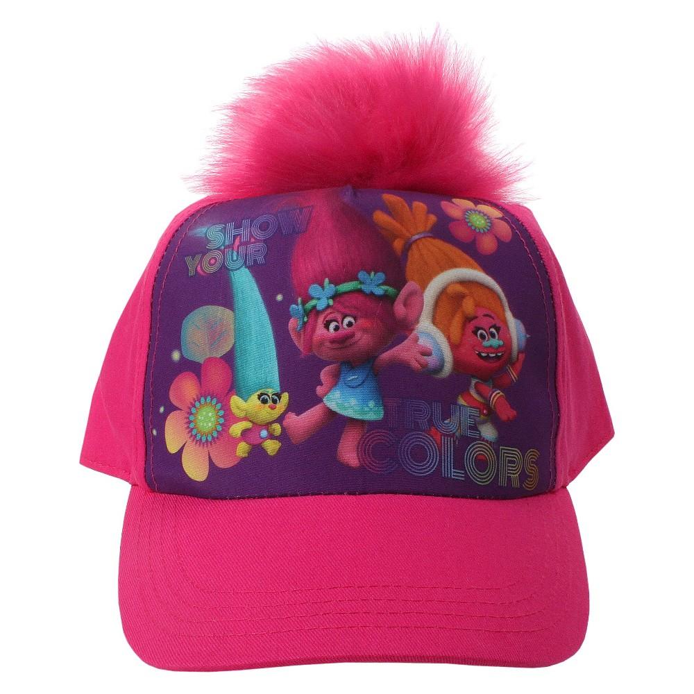 6933dd1d2b2 Girls  DreamWorks Trolls Baseball Hat - Pink 4-16