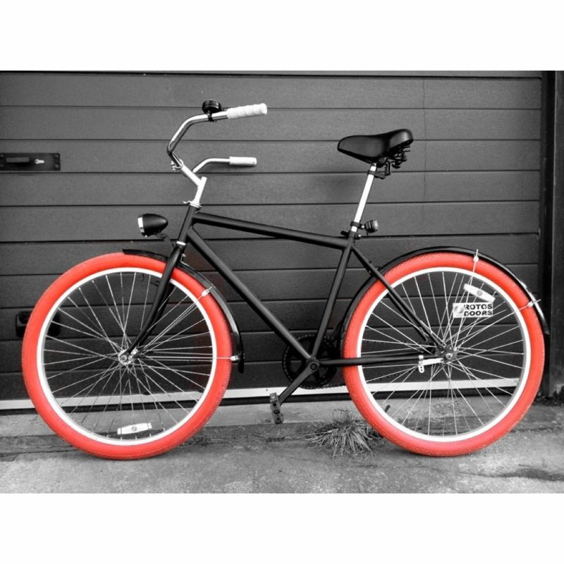 Custom cruiser bicycle with red balloon tires | 4Cruiserproject ...
