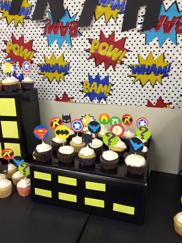 DIY superhero cupcake toppers