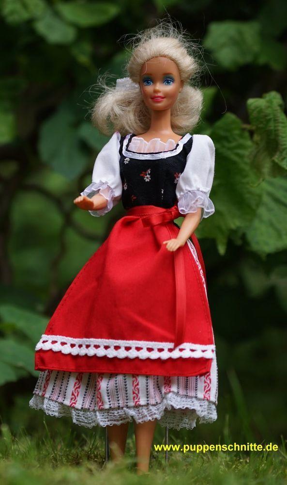 Schnittmuster für Barbie: Dirndlkleid / Dirndl / Oktoberfest ...