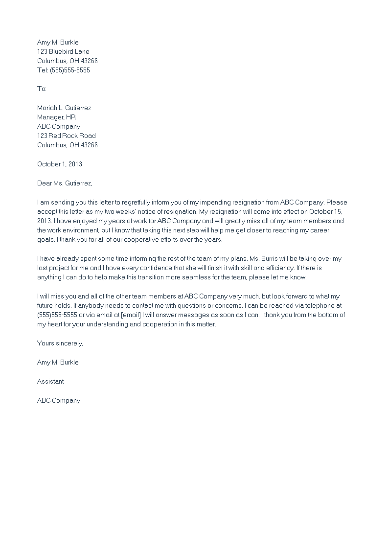 Heartfelt Resignation Letter Cover Letter Sample For Professional Yourmomhatesthis Writing .
