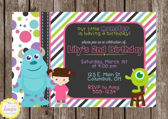 Pin On Monsters Inc Party