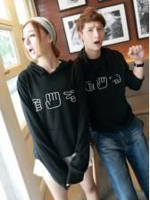 Korean Style Fashion Sweet Rock Paper Scissors Printing Couple Hoodies 11 35 Couples Hoodies Cute Couple Hoodies Couple Shirts