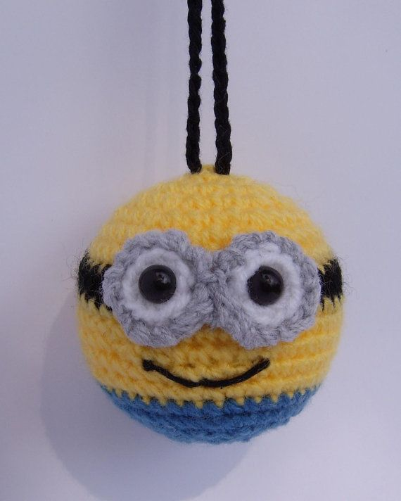 Minion inspired bauble ornament crochet decorations | あみぐるみ ...