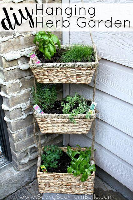 Wonderful DIY Hanging Herb Garden