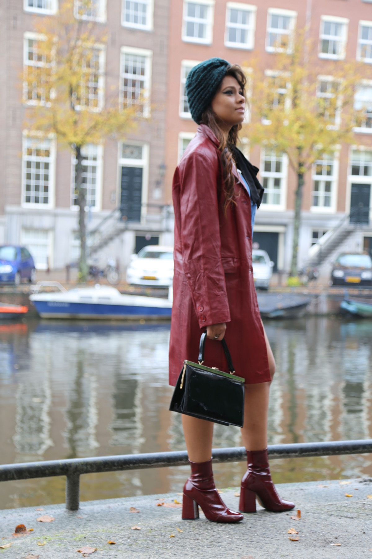 Amsterdam Street Style Leather Jacket Cositas Fashion Stories Pinterest Amsterdam Street