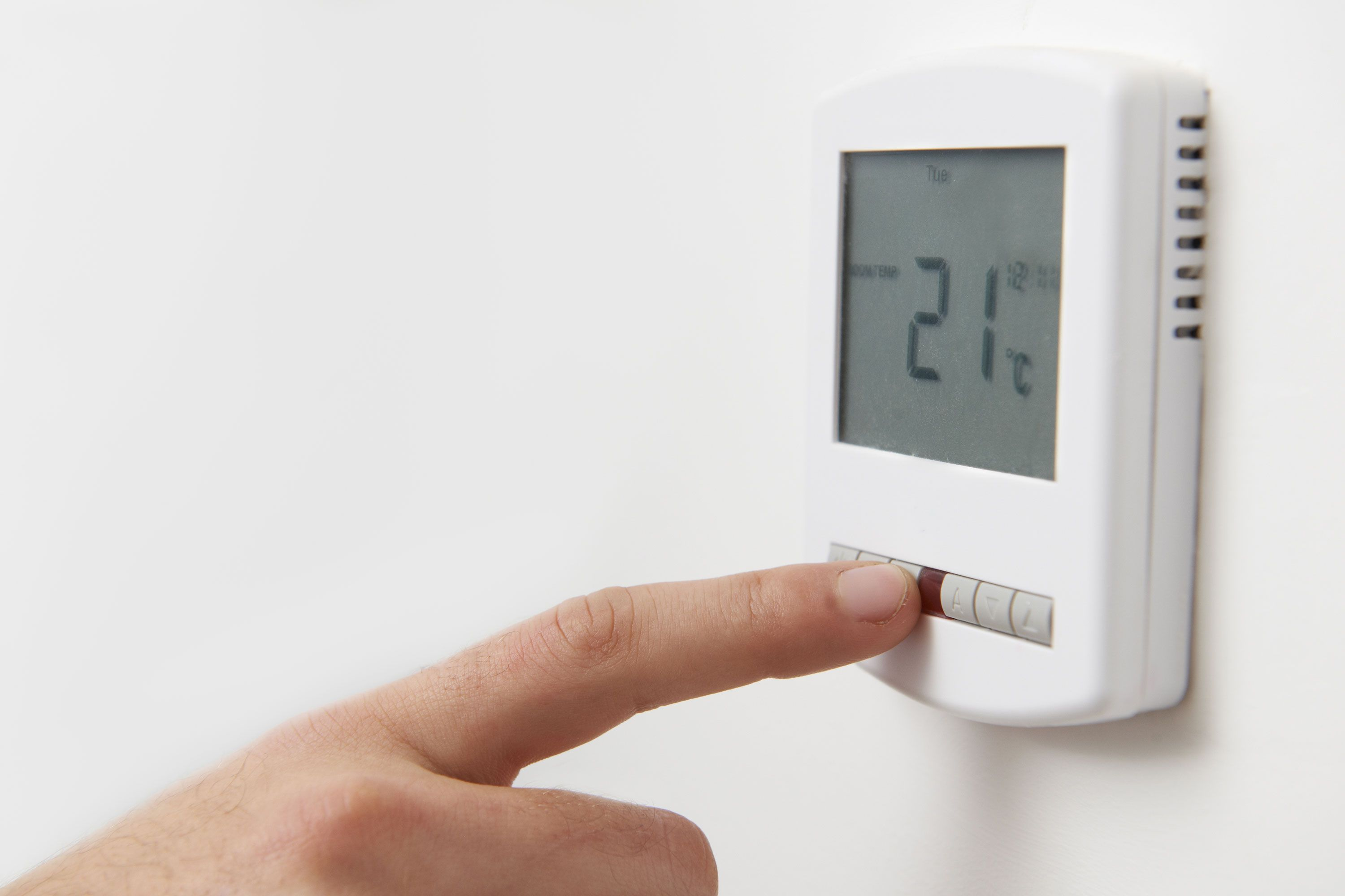Fahrenheit 451 Heating thermostat, Central heating