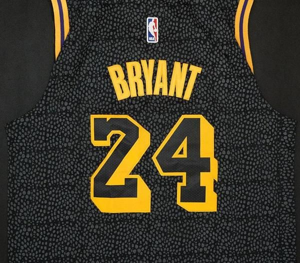 250a985be Men 24 Kobe Bryant Jersey City Edition Black Los Angeles Lakers Jersey  Player