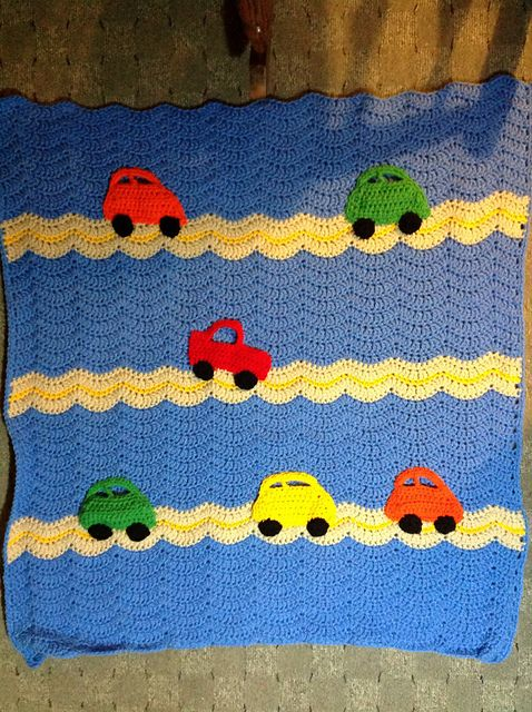 Cars Blanket Pattern By Mary Maxim Car Blanket Blanket And Ravelry