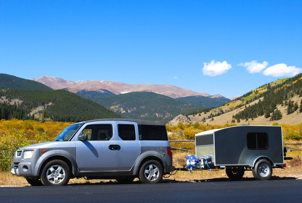 Adventure Tow lightweight camper trailer rentals in action Even