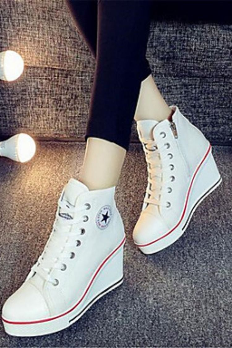 basquette femme compensee converse