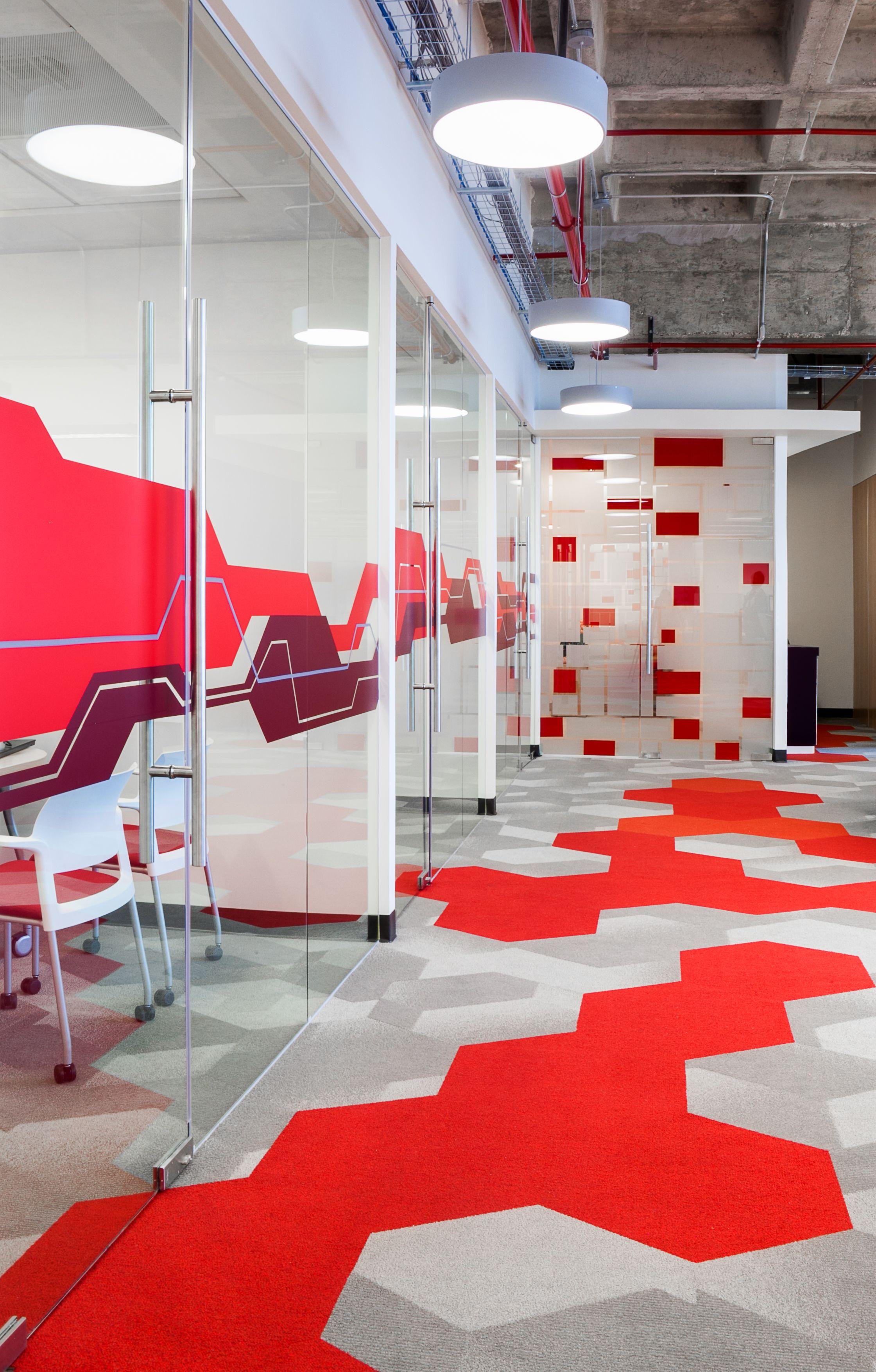 Office interior orange blue google search receptions pinterest design interiors and also rh
