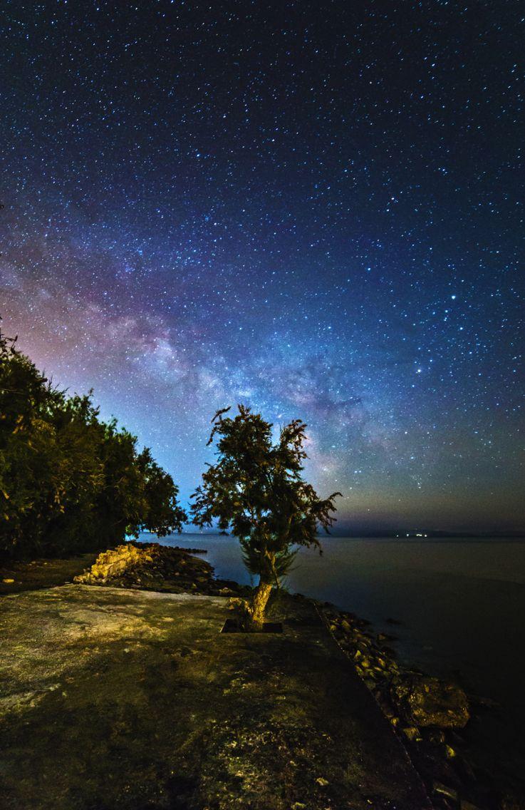 Milky Way rising over the beach of Karnagio in Greece! Shot