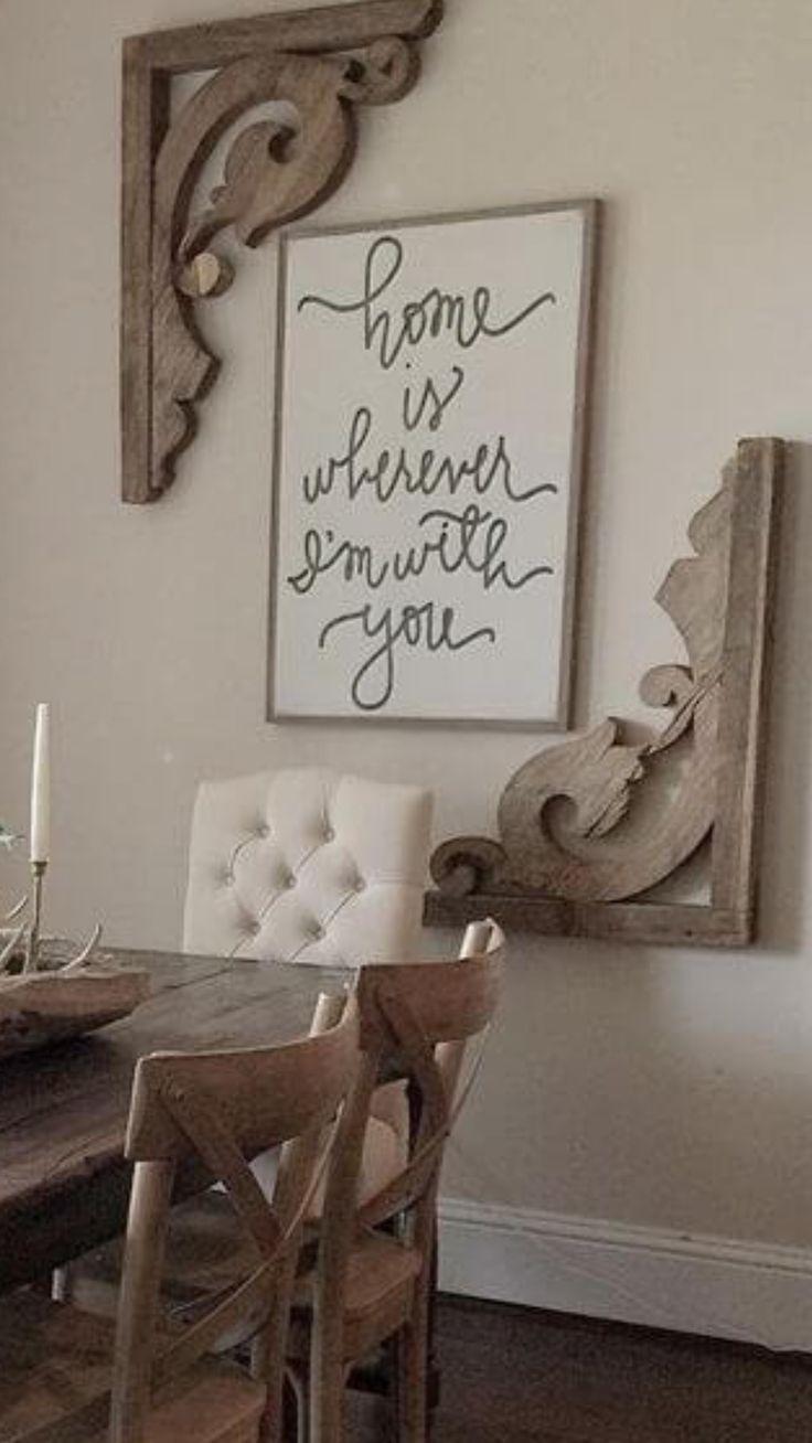 I Like The Idea Of Corner Detail Around Artwork Dining Room Wall Decor Room Wall Decor Joanna Gaines Dining Room