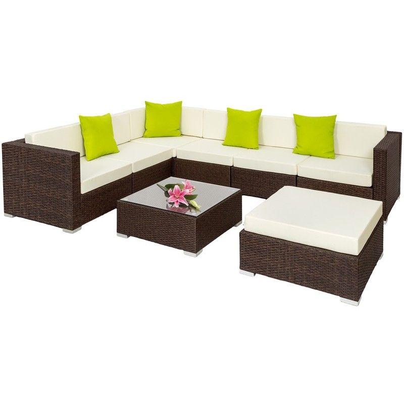 Salon De Jardin Marbella 6 Fauteuils 1 Table 1 Tabouret En Resine Tressee Gris 403083 Garden Coffee Table Outdoor Wicker Furniture Furniture Sofa Set