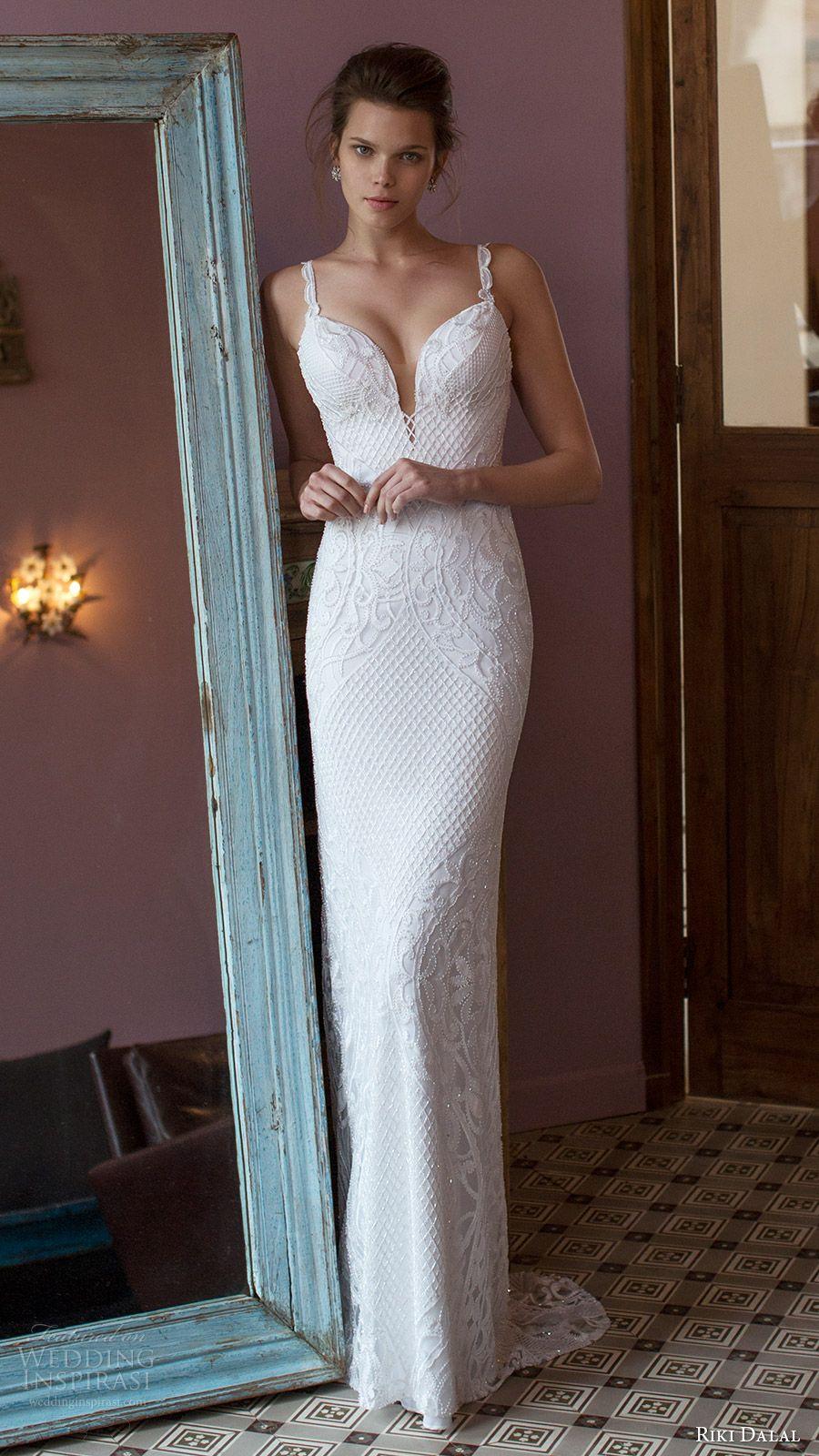 Beaded sheath wedding dress  Riki Dalal  Wedding Dresses u ucVeronaud Bridal Collection