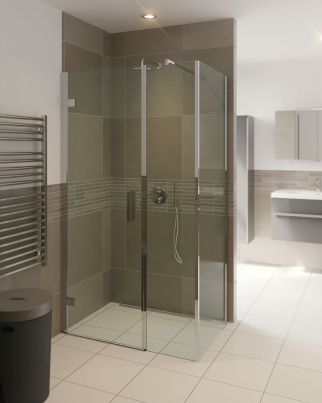 Module inline draaideur met zijwand | Badkamer apparatuur ...