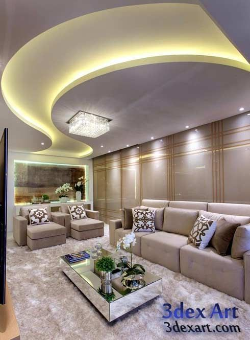 False Ceiling Designs For Living Room In Flats: Latest False Ceiling Designs For Living Room And Hall 2018