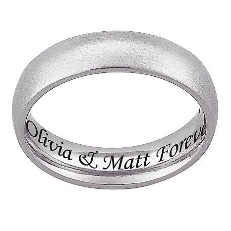 Stainless Steel Engraved Classic Wedding Band Wedding Band Engraving Wedding Ring Inscriptions Engraved Wedding