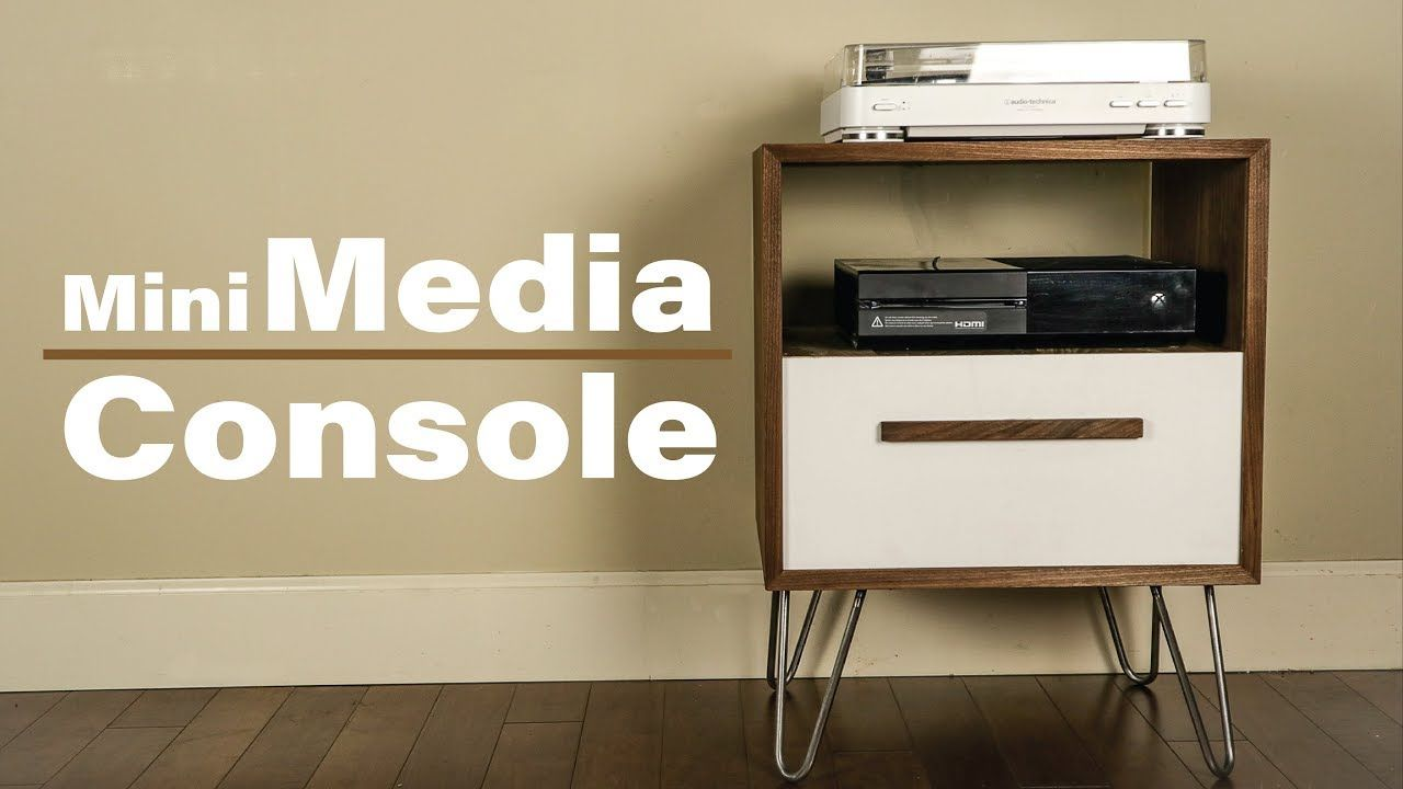 Modern Media Console Diy Record Player Stand Youtube With