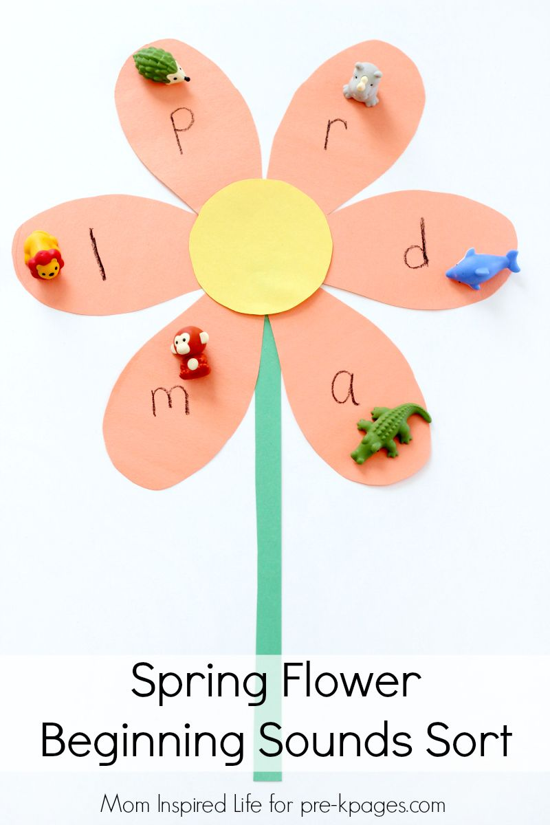 Build Flowers With Alphabet Leaves And Then Match The Beginning Sounds With Items Around The House Beginning Sounds Pre K Pages Alphabet Activities Preschool [ 1200 x 800 Pixel ]