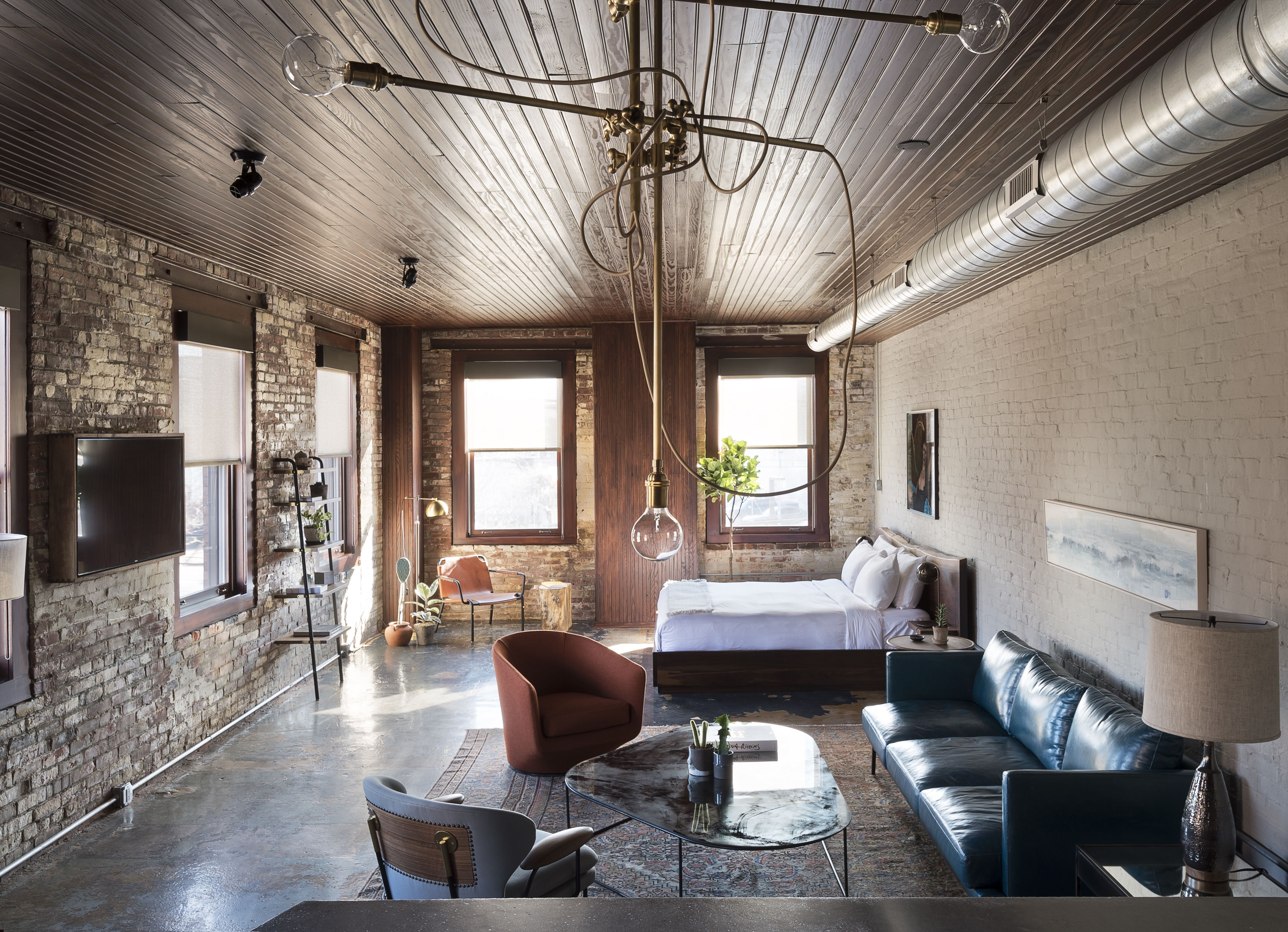 polished concrete floor loft. Photo 2 Of 11 In History And Modernity Meet This Industrial Hotel\u2026 Concrete FloorsBrick Polished Floor Loft T
