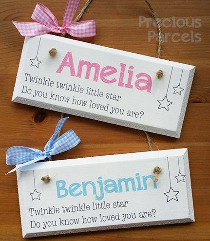 New baby gifts name plaques wall hangers keepsakes crafts new baby gifts name plaques wall hangers keepsakes negle Choice Image