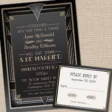 Wedding Invitation Art Deco Wedding Invitations 2 Invitations