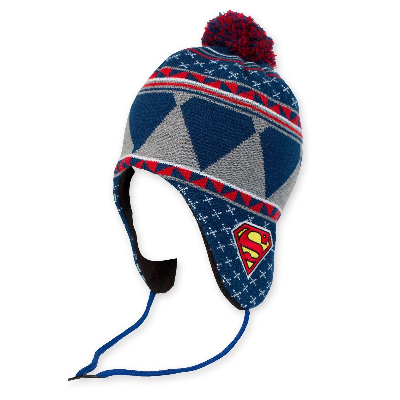 Superman Laplander Pom Winter Hat  6591ba6e52e
