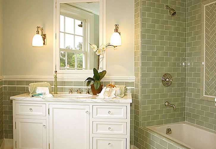 Beau Green Bathroom With Modern And Cool Design Ideas