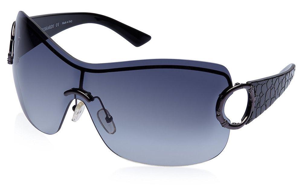 1ae300fb247 Trussardi Oversized Sunglasses Black TE21132 New With Case Designers  Sunglasses  TRUSSARDI